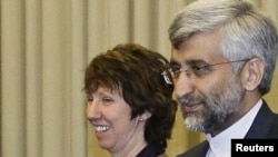 EU foreign policy chief Catherine Ashton and Saeed Jalili, Iran's chief nuclear negotiator, meet with world leaders for a second day of talks about Iran's nuclear program.