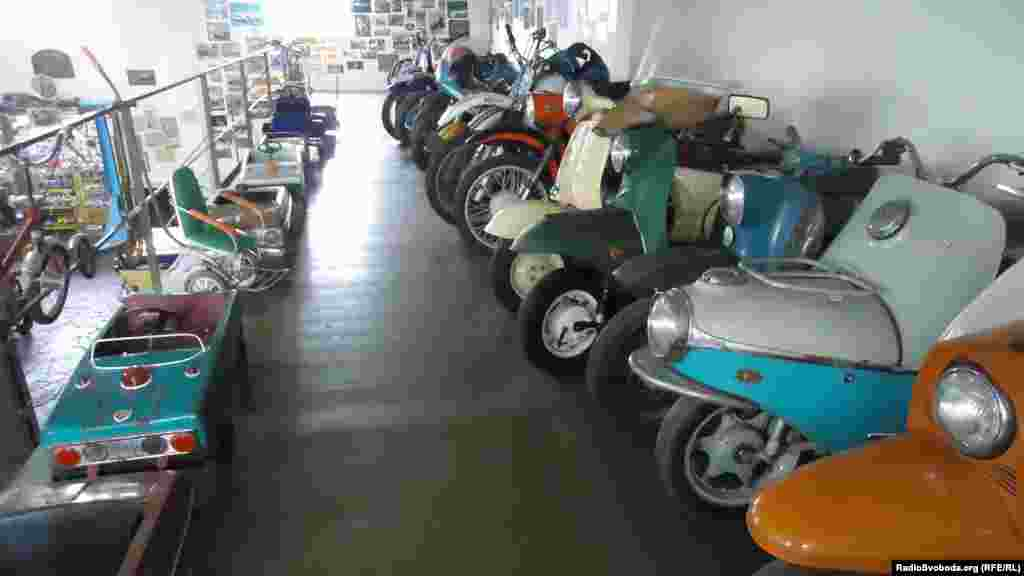 Toy cars and bicycles from the Soviet era
