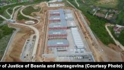 Pogled iz zraka na budući državni zatvor
