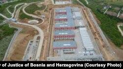 Pogled iz zraka na budući državni zatvor u Vojkovićima nedaleko od Sarajeva