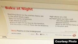 «Baku at Night» şeiri London metrosunda