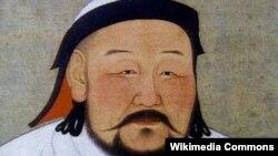 Çin mənbələrinə görə Çingiz Xanın portreti.