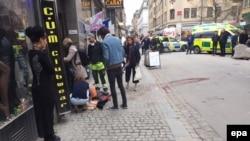 На місці нападу у Стокгольмі, 7 квітня 2017 року