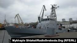 Катер класу «Айленд» в порту Одеси, 21 жовтня 2019 року