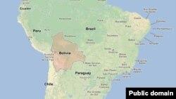 Карта Южной Америки.