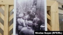 """Evrei încărcați în """"trenul morții"""". Fotografie de Sueddeutscher Verlag Bilderdienst"""