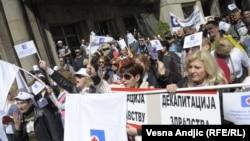 Beograd: Protest zdravstvenih radnika