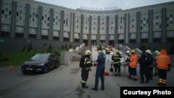 Пожар в больнице св. Георгия. Фото: пресс-служба МЧС