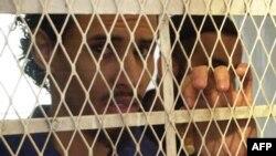 Ахмед аль-Кусо під час розгляду справи за звинуваченням у вибухах у Ємені, 1 вересня 2004 року