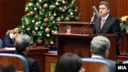 Годишно обраќање на претседателот Ѓорге Иванов пред Собранието.