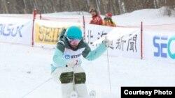 Казахстанская фристайлистка Юлия Галышева на зимних Азиатских играх в Саппоро.