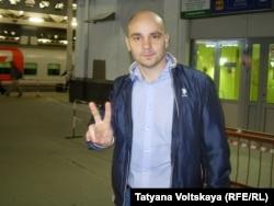 Андрей Пивоваров вернулся в Санкт-Петербург после освобождения из костромского СИЗО, сентябрь 2015 года