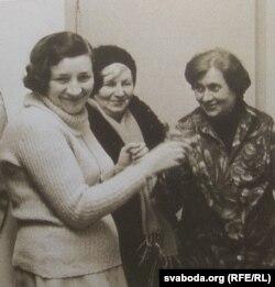 Разам зь Зінаідай Грындзінай і Аляксандрай Пасьлядовіч. 1983 г.