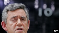 British Prime Minister Gordon Brown steps down.