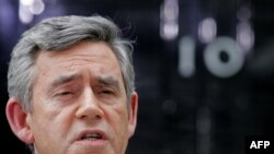 British Prime Minister Gordon Brown steps down.