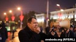 Павал Севярынец на акцыі ў Менску 8 верасьня