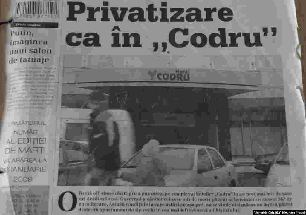 """""""Jurnal de Chişinău"""", 30 decembrie 2008"""