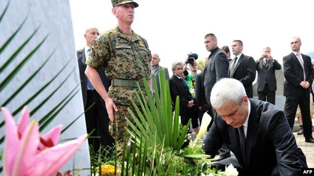 Boris Tadić u Potočarima, juli 2010.