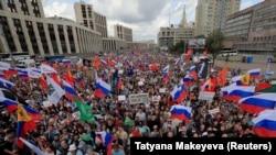 Ռուսաստան - Բազմամարդ բողոքի ակցիա Մոսկվայում, 20-ը հուլիսի, 2019թ.