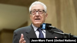 I dërguari ndërkombëtar për krizën në Siri, Lakhdar Brahimi.