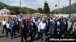 Հայաստանի նախագահ Սերժ Սարգսյանը Լեռնային Ղարաբաղում։
