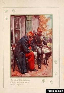 Конец Второй империи: Наполеон III после сдачи в плен при Седане беседует с прусским канцлером Отто фон Бисмарком. 1870 год