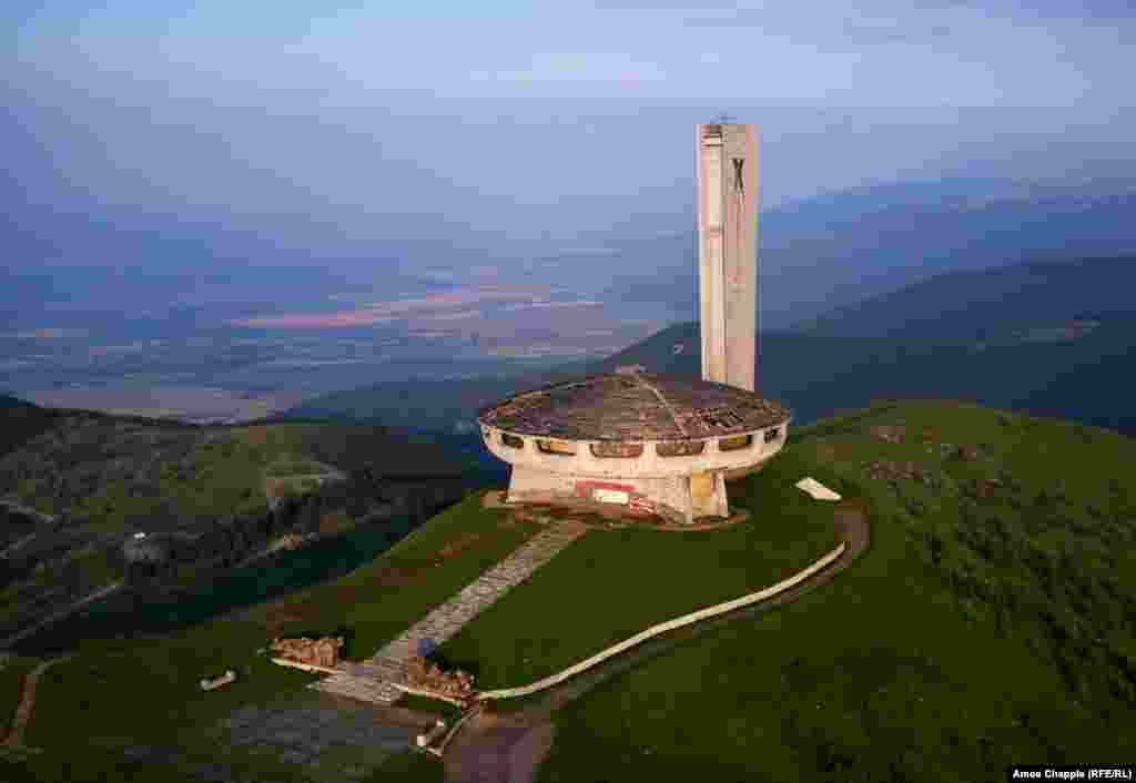 Central Balkan Mountains, Bulgaria. The abandoned communist monument of Buzludzha.