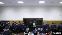 Михаил Ходорковский и Платон Лебедев в Хамовническом суде, 30 декабря 2010