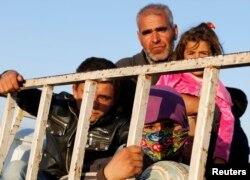 Курдские беженцы в Турции. 7 октября