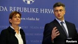 Ministrica Martina Dalić i premijer Andrej Plenković, Zagreb