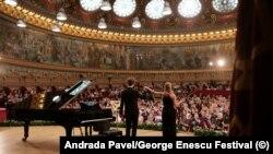 Imagine de arhivă din timpul Festivalului George Enescu