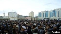 Пратэстоўцы ў лібійскім горадзе Торбук 20 лютага 2011 г.