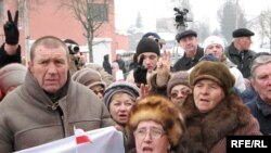 Ethnic Poles rallying in Hrodna today