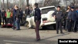 На месте аварии в Бишкеке.