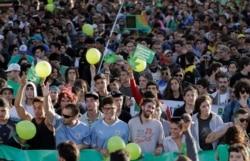 Демонстрация за легализацию марихуаны в Монтевидео, 10 декабря