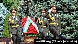 Президент иштирок этган тадбир манзараси.