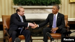 ԱՄՆ նախագահ Բարաք Օբամայի և Պակիստանի վարչապետ Նավազ Շարիֆի հանդիպումը Սպիտակ տանը, Վաշինգտոն, 22-ը հոկտեմբերի, 2015թ․
