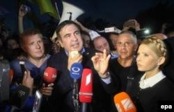 Михаил Саакашвили пересекает границу Польши и Украины, 10 сентября 2017
