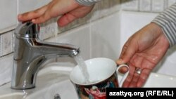 Kazakhstan – drinking water, tap water. Illustrative photo. Almaty, 15Mar2013
