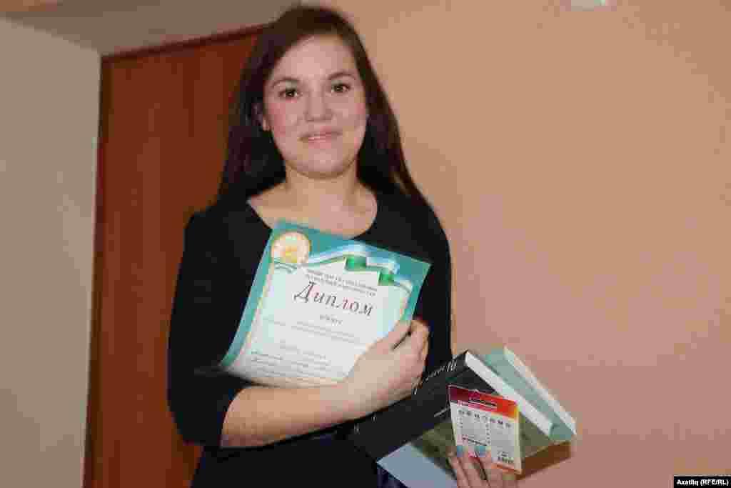 Чишмә районы Келәш мәктәбе укучысы Эльгина Газизова