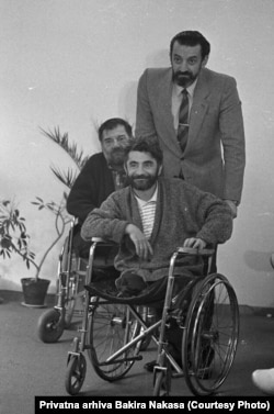 Nermin Tulić (prvi), Bakir Nakaš (drugi) i Božo Pašagić, također amputirac, treći