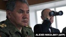 Міністр оборони Росії Сергій Шойгу та президент Росії Володимир Путін