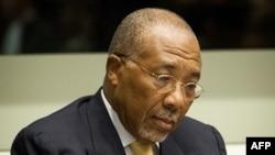 Бывший президент Либерии Чарльз Тейлор на заседании Специального суда по Сьерра-Лионе. Гаага, 26 сентября 2013 года.