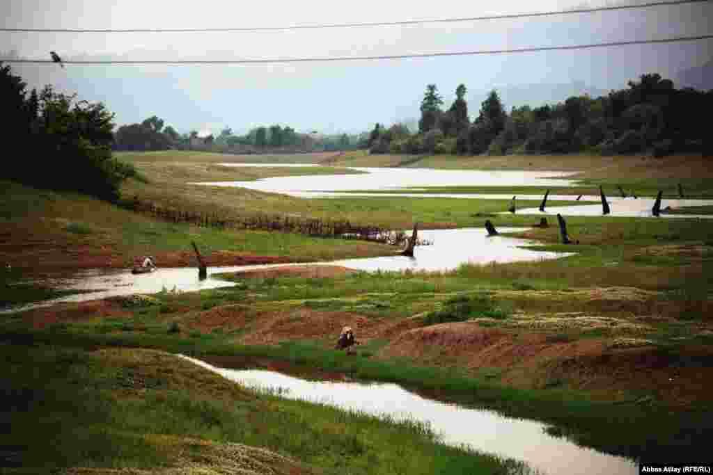 Irrigation channels around the village of Astara.