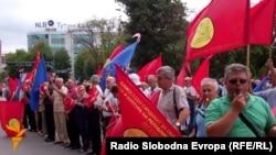 Од протестот на СОНК на 1 август.