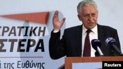 Политические лидеры Греции в эти дни разъясняют каждый свои аргументы. На снимке - лидер левых демократов Фотис Кувелис.
