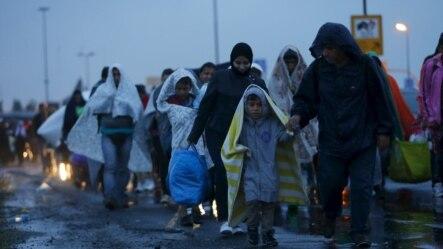 Izbjeglice na austrijsko mađarskoj granici, 5. septembar 2015.