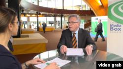 În cursul interviului de la Strasbourg