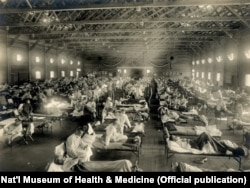 Një spital në Kansas, ku u trajtuan të prekurit nga Gripi Spanjoll më 1918.
