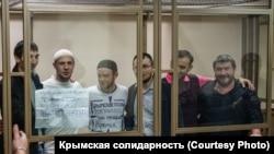Фигуранты ялтинского «дела Хизб ут-Тахрир» в суде, архивное фото